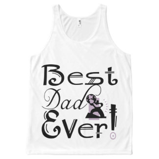 """""""Best Dad Ever!"""" #2D-2 T-Shirt All-Over Print Tank Top"""