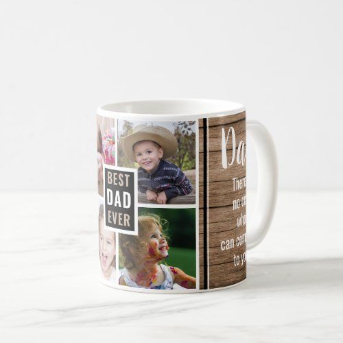 Best Dad Ever 4 Photo Collage Fathers Day Coffee Mug