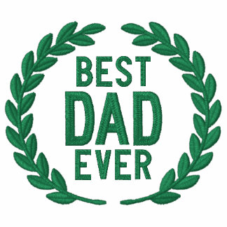 Best Dad Ever All Star SuperDad Laurels Embroidery Embroidered Hooded Sweatshirts