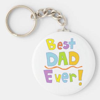 Best Dad Ever Basic Round Button Keychain