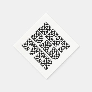 BEST DAD EVER - Black and White Typography Paper Napkin