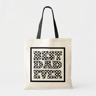 BEST DAD EVER - Black and White Typography Tote Bag