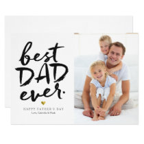 Best Dad Ever | Black On White Invitation