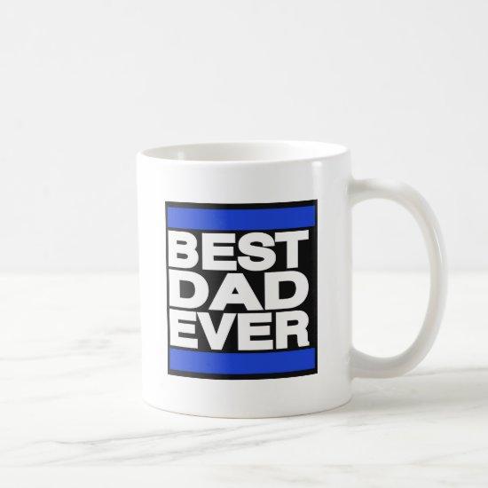 Best Dad Ever Blue Coffee Mug