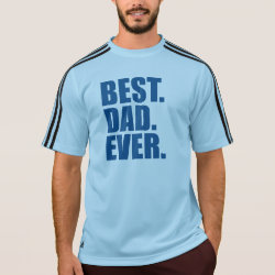 Men's Adidas ClimaLite® T-Shirt with Best. Dad. Ever. (blue) design