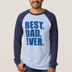Men's Canvas Long Sleeve Raglan T-Shirt with Best. Dad. Ever. (blue) design