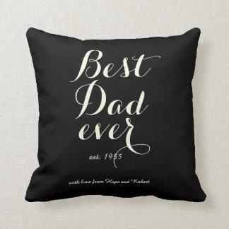 Best Dad Ever - Bulls Eye Pillow
