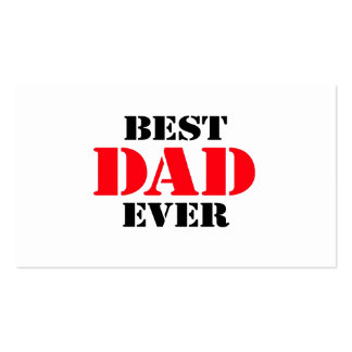 Best Dad Ever Double-Sided Standard Business Cards (Pack Of 100)