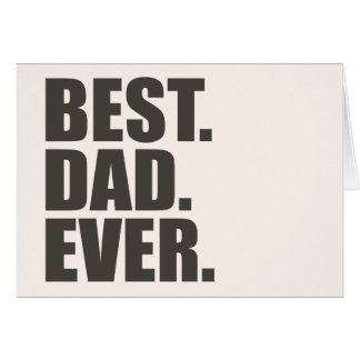 Best. Dad. Ever. Card