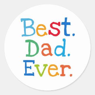 Best dad ever classic round sticker