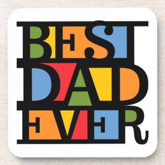BEST DAD EVER coasters