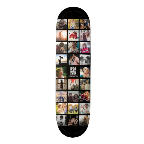 Best Dad Ever Cool Trendy Instagram Photo Collage Skateboard