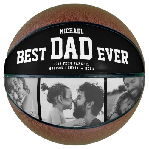 BEST DAD EVER Cool Trendy Unique Photo Collage Basketball
