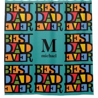 BEST DAD EVER custom monogram shower curtain