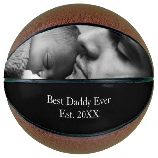 Best Dad Ever Custom Photo and Name Family Photo Basketball