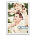 Best Dad Ever Custom Photo Modern Design Greeting Cards