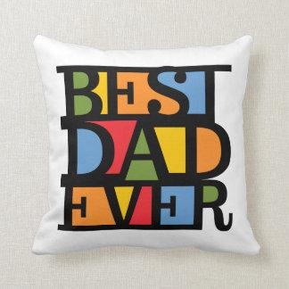 BEST DAD EVER custom throw pillow
