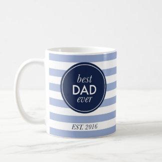 best dad ever est. 2016 coffee mug