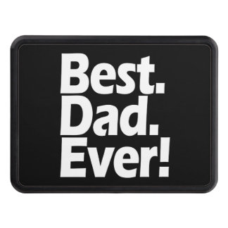 Best Dad Ever Exclamation Black/White Father's Day Trailer Hitch Covers