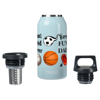 best dad ever father pops papa parent ball sports insulated water bottle