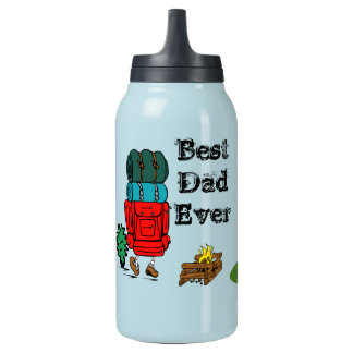 best dad ever father pops papa parent camp hike insulated water bottle