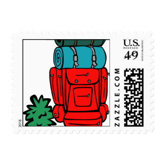 best dad ever father pops papa parent camp hike postage stamp
