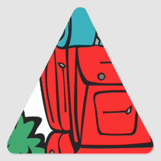best dad ever father pops papa parent camp hike triangle sticker
