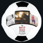 "Best Dad Ever Father`s Day 3 Photo Collage Soccer Ball<br><div class=""desc"">Best Dad Ever Father`s Day 3 Photo Collage Soccer Ball - photo soccer ball with love message,  names and 3 photo collage. Personalize it with your photos and names. A perfect gift for a dad or a new dad on Father`s Day,  Christmas or a birthday gift.</div>"