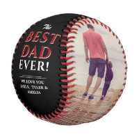 Best Dad Ever Father`s Day Photo Collage Baseball