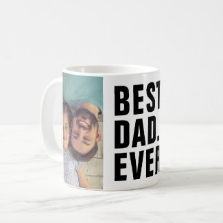Personalized 2 Photos Custom Printed Coffee Mug Father's Day gift