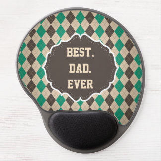 Best Dad Ever Father's Day Greeting Gel Mouse Pad