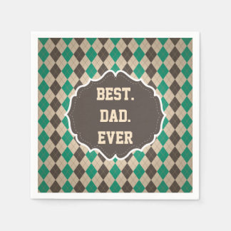 Best Dad Ever Father's Day Greeting Paper Napkin