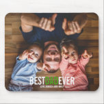 """Best Dad Ever Father's Day Photo Mousepad<br><div class=""""desc"""">Personalize the custom text above. You can find additional coordinating items in our """"Best Dad Ever"""" collection. ***PLEASE NOTE: ALL OF THE WORDING IS EDITABLE. You can change the words (from DAD to POP for example) and you can also change the text color as well. For items that have a...</div>"""
