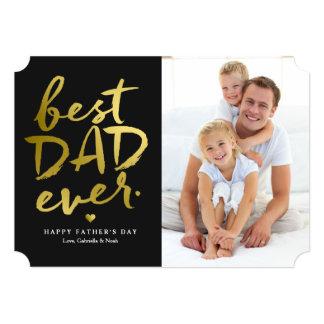 Best Dad Ever | Gold On Black Card