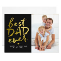 Best Dad Ever | Gold On Black Invitation