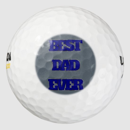 Best Dad Ever golf ball