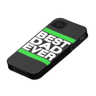 Best Dad Ever Green Vibe iPhone 4 Cases