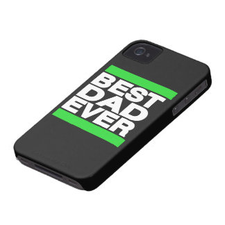 Best Dad Ever Green iPhone 4 Case-Mate Cases