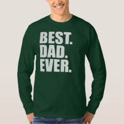 Men's Basic Long Sleeve T-Shirt with Best. Dad. Ever. (green) design