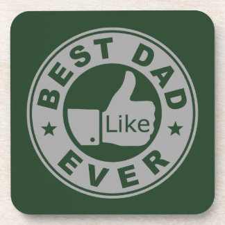 Best Dad Ever - Grey Beverage Coaster