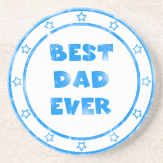 Best Dad Ever Grunge Stamp Coaster