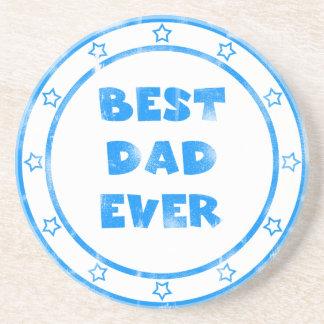 Best Dad Ever Grunge Stamp Coaster