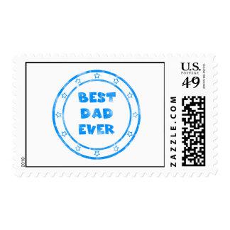Best Dad Ever Grunge Stamp Postage Stamp