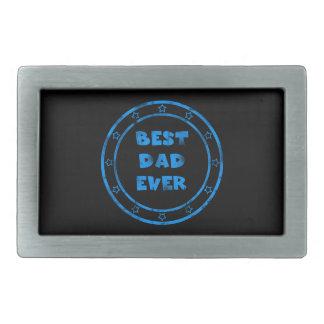 Best Dad Ever Grunge Stamp Rectangular Belt Buckle