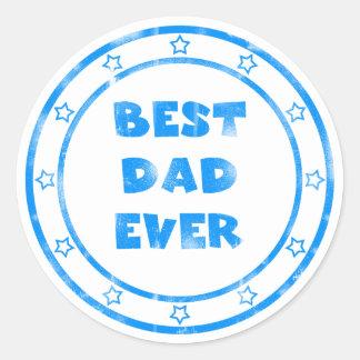 Best Dad Ever Grunge Stamp Sticker