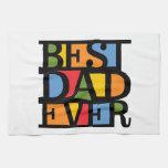 BEST DAD EVER hand towel