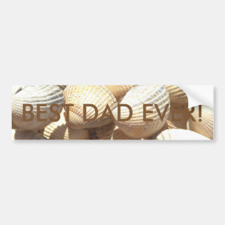 Best Dad Ever Happy Father´s Day Seashells Beach Car Bumper Sticker