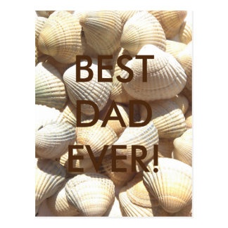Best Dad Ever Happy Father´s Day Seashells Beach Postcard
