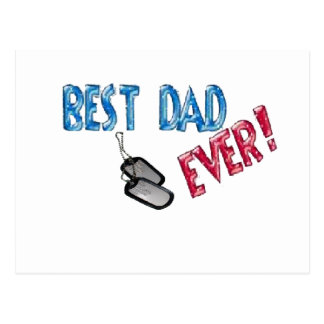 Best Dad Ever. Happy Father's Day Postcard