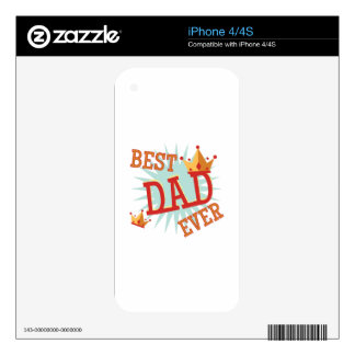Best Dad Ever iPhone 4 Decal